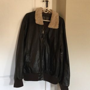 Men's imitation leather jacket